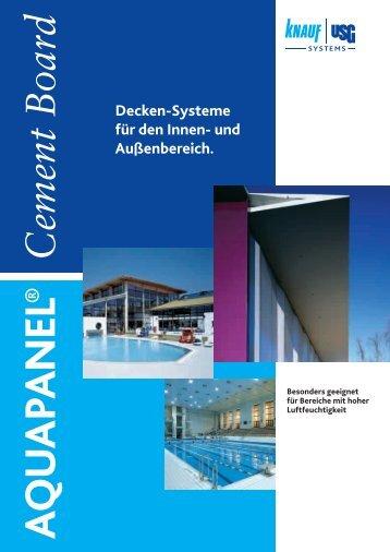 Decken-Systeme für den Innen- und Außenbereich.
