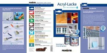 Acryl-Lacke Ratschläge & Anwendungstipps