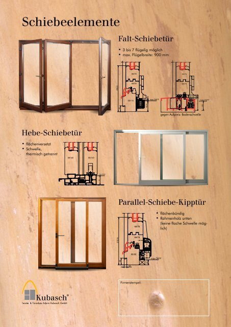 HoLz-Fenstern - Kubasch Fensterbau