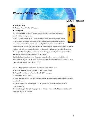 Wireless GPS Logger M-241 - ACME