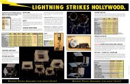 LIGHTNING STRIKES HOLLYWOOD. - Luminys Systems Corp