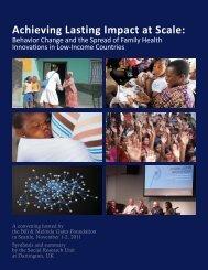 Achieving Lasting Impact at Scale - Bill & Melinda Gates Foundation