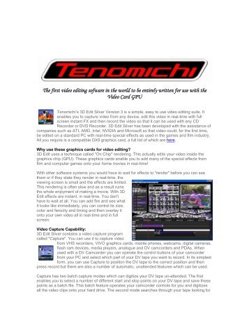 The first video editing sofware in the world to be ... - TigerDirect.com