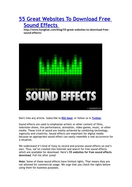 free sound effects for commercial use