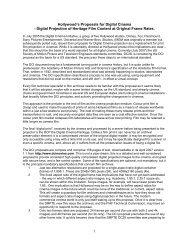 Hollywood's Proposals for Digital Cinema - Digital Projection ... - FIAF