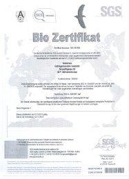 BIO Zertifikat 2011 - Kostrhon Geflügelhandels GmbH