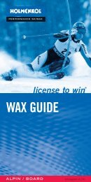license to win® WAX GUIDE