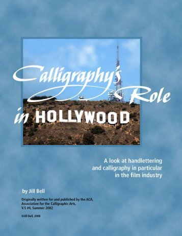 Calligraphy's Role in Hollywood - Jill Bell