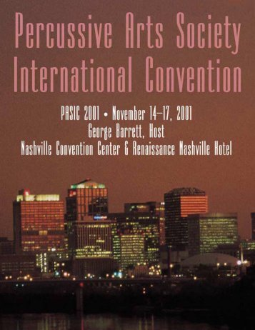 PASIC 2001 Program (pdf) - Percussive Arts Society