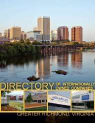 Directory of Internationally Owned Companies - Greater Richmond ...