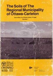 The Soils of The Regional Municipality of Ottawa=Carleton
