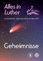 Ausgabe 4 - 2010 Dezember 10 - Zur Luthergemeinde