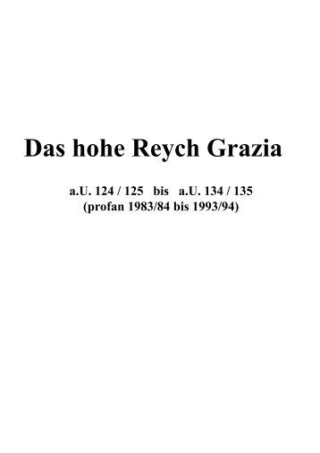 Das hohe Reych Grazia