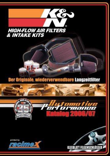 K&N Racimex Universal Katalog - Ahnendorp