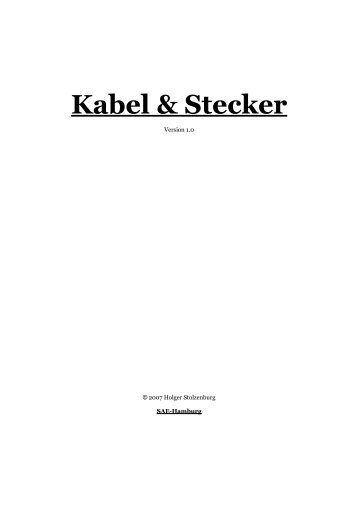 Kabel & Stecker - Holger Stolzenburg
