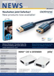 Neuheiten jetzt lieferbar! New products now available! - Wentronic
