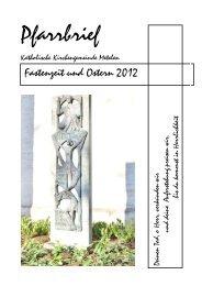 Osterpfarrbrief 2012 - farbig - - Kath. Kirche Metelen