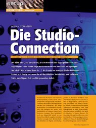Die Studio- Connection - Music Store News