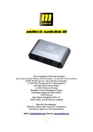 Audiolink III USB audio interface Owner's Manual - MidiTech