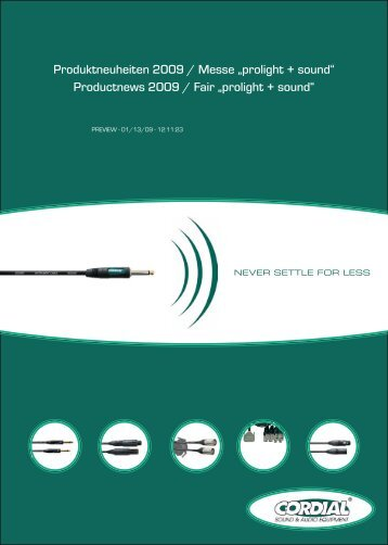 "Produktneuheiten 2009 / Messe ""prolight + sound"" Productnews ..."