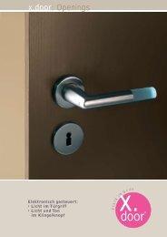 x.door: Openings - Schneider + Fichtel GmbH