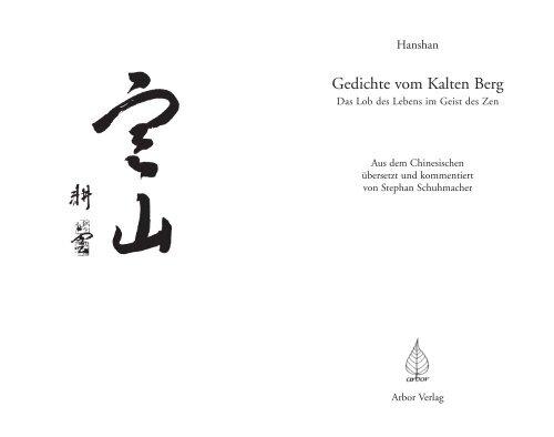 Gedichte Vom Kalten Berg Arbor Verlag