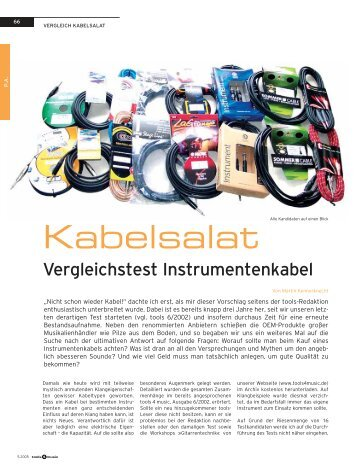 Technisches - Sommer Cable
