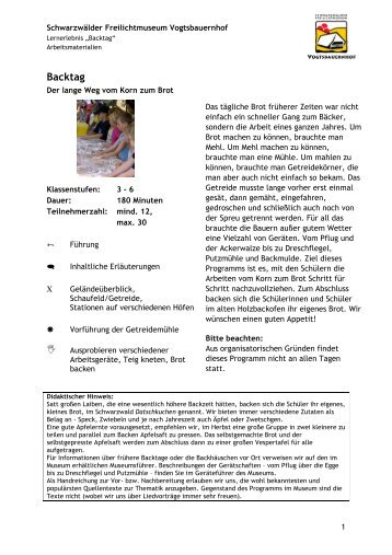 Arbeitsmaterialien - Backtag.pdf - Schwarzwälder Freilichtmuseum ...