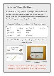 School things Klipp Klapp - didaktischer Kommentar - Matobe-Verlag