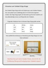 Farm animals Klipp Klapp - didaktischer Kommentar - Matobe-Verlag