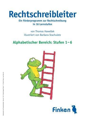 Alphabetischer Bereich: Stufen 1–6 - Finken Verlag