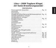 Libra + 200M Tragbare Klingel, mit Taster ... - REHAVISTA