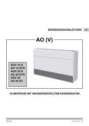Bedienungsanleitung - KRONE Kälte & Klima GmbH