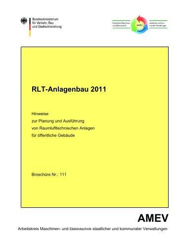 RLT-Anlagenbau 2011 - Arbeitskreis Maschinen- und Elektrotechnik