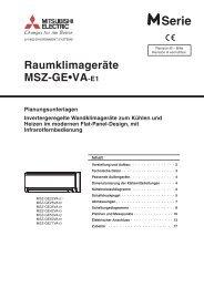 Mitsubishi Electric MSZ-GE22-71 ... - KlimaCorner.de