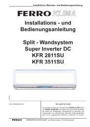 Installations 0 und Bedienungsanleitung Split 0 Wandsystem Super ...