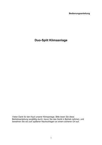 INSTALLATIONSANLEITUNGEN – Klimaanlage mit Inverter-Split ...