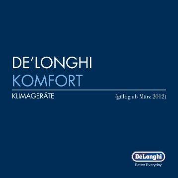 Klimageräte-Broschüre - De'Longhi