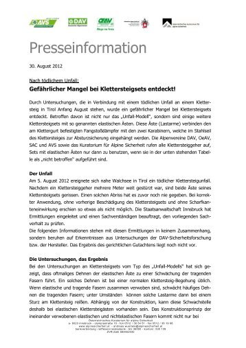 ö_presseinfo_klettersteigsets_20120830 _2_x - Die BergSpechte