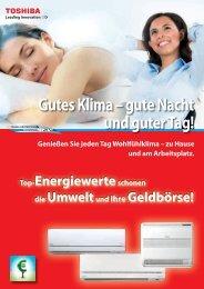 Heizen mit einer Klimaanlage von Toshiba. Das können Sie sparen!