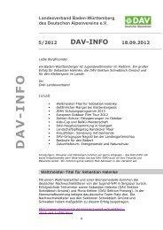 5/2012 DAV-INFO 18.09.2012 - Landesverband Baden ...