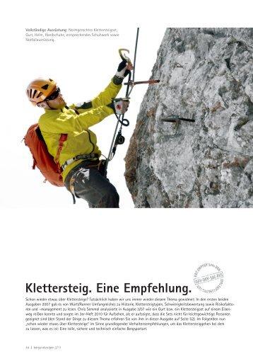 Klettersteig. Eine Empfehlung - Bergundsteigen