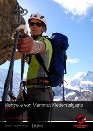 Kontrolle von Mammut Klettersteigsets - oder www.alpenverein ...