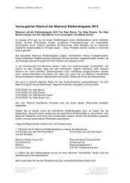 Vorsorglicher Rückruf der Mammut Klettersteigsets 2012 - Quo Vadis