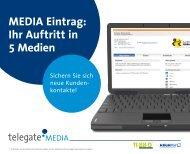 MEDIA Eintrag: Ihr Auftritt in 5 Medien - telegate MEDIA