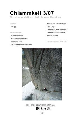 Chlämmkeil 3/07 - SAC Sektion Rossberg