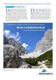 BE IM LEHNBERGHAUS - Almenrausch