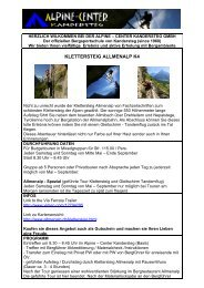 Via Ferrata Klettersteig Allmenalp K4 - Alpine-Center