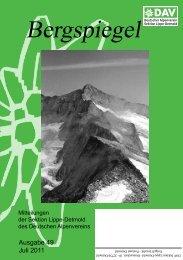 Bergspiegel - Alpenverein Sektion Lippe-Detmold