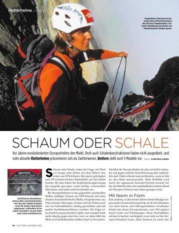 SCHAUM ODER SCHALE - Stubai Bergsport